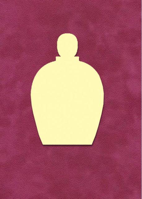 Bouteille de parfum ovale à embosser