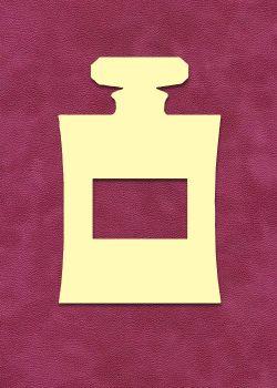 Bouteille de parfum rectangle à embosser