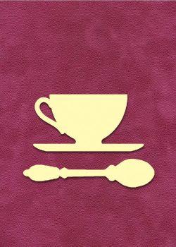 Set petite tasse et petite cuillère à embosser