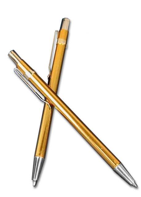 Pointe Bic rétractable doré (110mm)