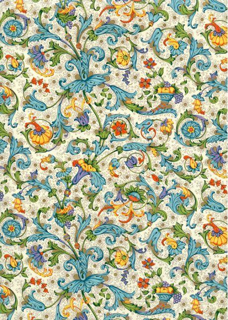 Venise corbeille fruits réhaussé or (70x100)