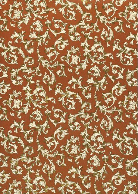 Venise arabesque - ivoire fond roux réhaussé or (70x100)