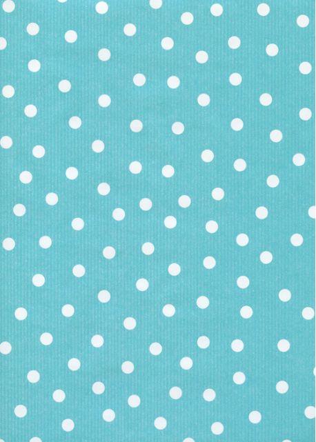 """""""Kraft fantaisie"""" pois fond turquoise (70x100)"""