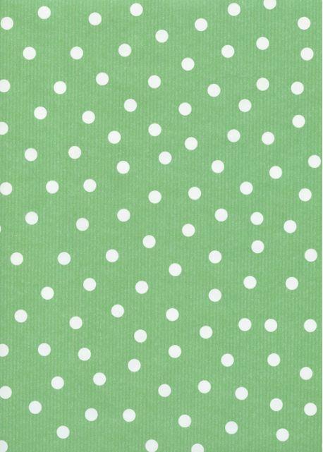 """""""Kraft fantaisie"""" pois fond vert printemps (70x100)"""