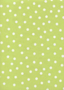 """""""Kraft fantaisie"""" pois fond vert anis (70x100)"""