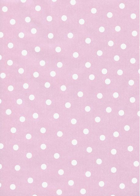 """Kraft fantaisie"" pois fond rose tendre (70x100)"