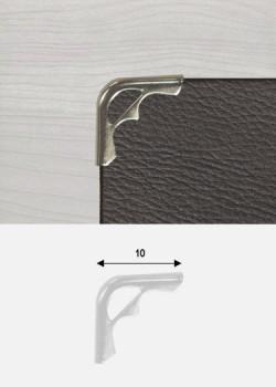 Angles mini découpés argent (10x10mm)