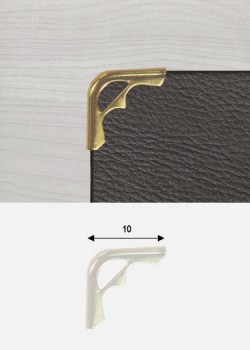 "Angles mini découpés or ""redorés"" (10x10mm)"