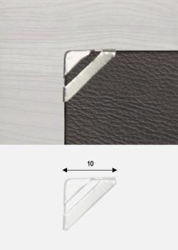 Angles mini quarter découpé argent (10x10)