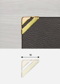 "Angles mini quarter découpés or ""redorés"" (10x10)"
