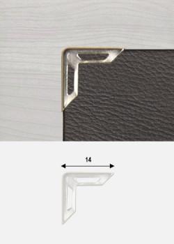 Angles découpés argent (14x14mm)