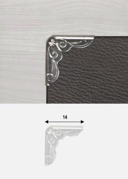 Angles embossés argent (14x14mm)