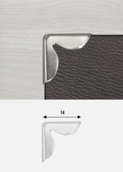 Angles pétales argent (14x14mm)