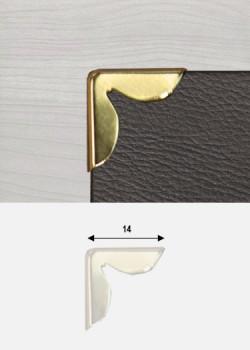 """Angles pétales or """"redorés"""" (14x14mm)"""