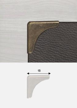 Angles quarter bronze (15x15mm)