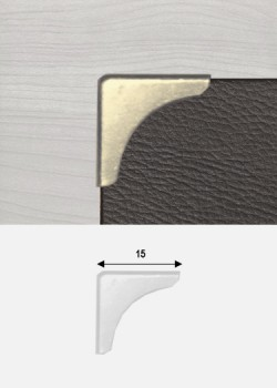 Angles quarter argent (15x15mm)