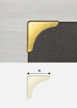 "Angles quarter or ""redorés"" (15x15mm)"