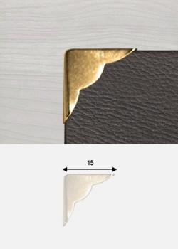 """Angles quarter festonnés or """"redorés"""" (15X15mm)"""