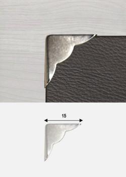 Angles quarter festonnés argent (15x15mm)