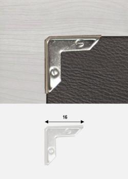 Angles décor vis argent (16x16mm)