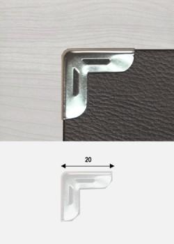 Angles découpés argent (20x20mm)