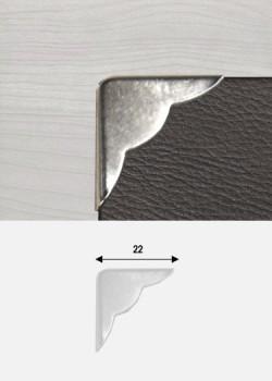 Angles festonnés argent (22x22mm)
