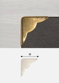 "Angles festonnés or ""redorés"" (22x22mm)"