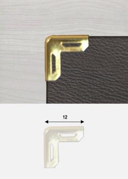 """Angles découpés or """"redorés"""" (12x12mm)"""