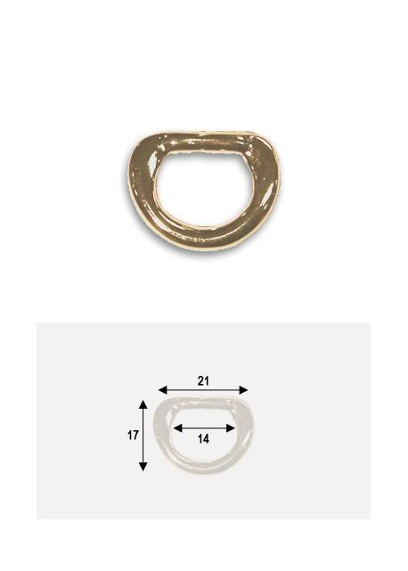 Anneaux étriers or (redorés) (21x17mm)