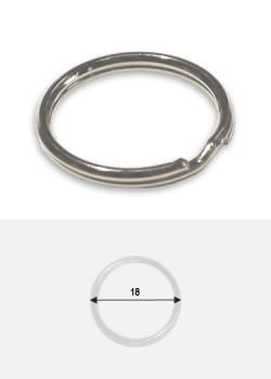 Anneaux spirales brisés argent (Ø18mm)