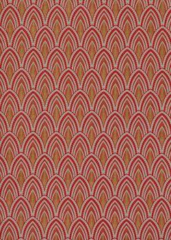 Les plumes de paon rouges et or (50x70)