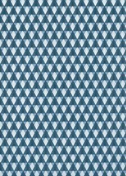 Art déco bleu pompadour (50x70)
