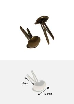 Clous de fixation fendus bronze (Ø9mm)