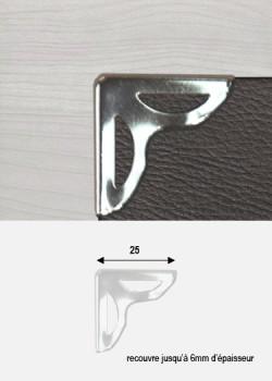angle papillon découpé argent 25x25