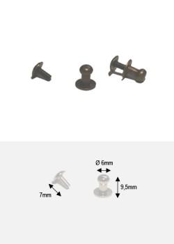 Boutons bronze MM + vis (Ø6mm H:9.5mm)
