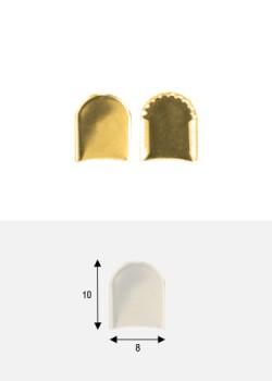 Embouts de bride rond or PM (8x10mm)