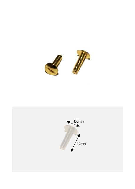 Vis dorées (redorées) 12mm