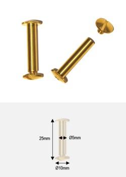 Vis à relier 25mm laiton brut