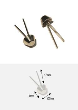 Pieds de protection argent PM (H:5mm/Ø7mm)