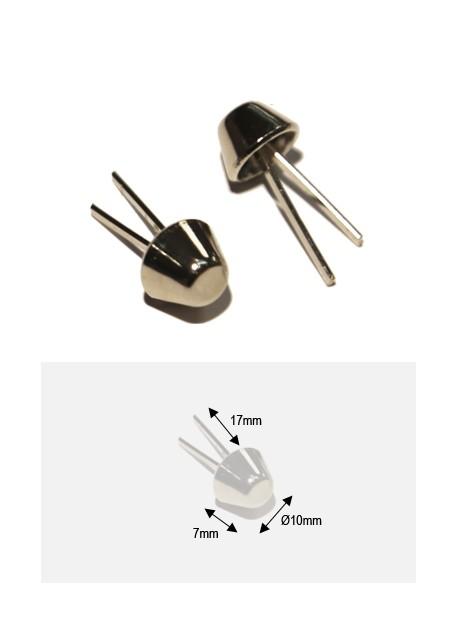 Pieds de protection argent GM (H:7mm/Ø10mm)