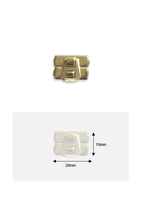 Fermoirs de coffret à griffes or (20x15mm)