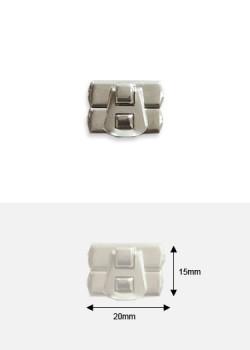 Fermoirs de coffret à griffes argent (20x15mm)