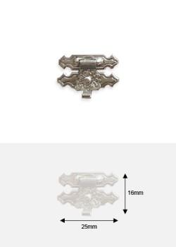 Fermoirs de coffret à griffes argent (25mm)