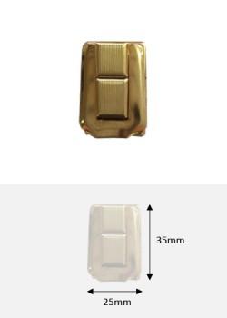 Fermoir cliquet à griffes en 2 pièces or (35x25mm)