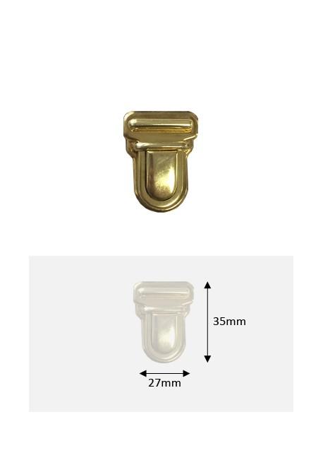 Fermoirs cartable design (27x35) doré