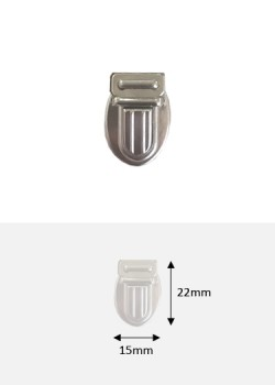 Fermoirs cartable argent PM (22x15mm)