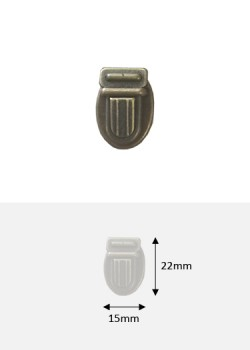 Fermoirs cartable bronze PM (22x15mm)