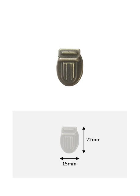 Fermoirs cartable bronze PM (22x15mm)