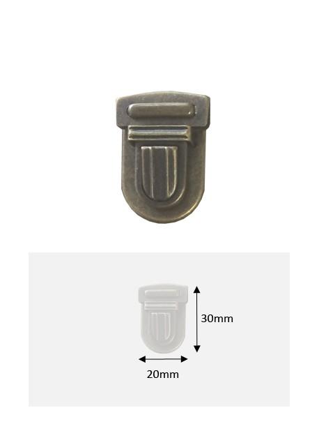 Fermoirs cartable bronze GM (30x20mm)