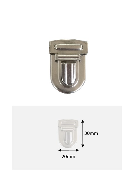 Fermoirs cartable argent GM (30x20mm)